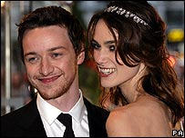 Atonement stars James McAvoy and Keira Knightley