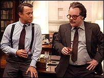 Philip Seymour Hoffman (right) and Tom Hanks in Charlie Wilson's War