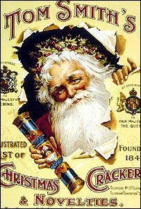 A 1922 advertisement promoting Tom Smith's Christmas Crackers (Credit: Topfoto]