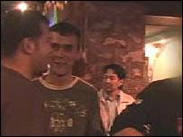 Men in a bar in Ashghabat