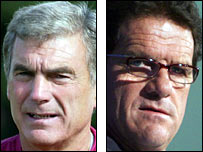 Sir Trevor Brooking and Fabio Capello