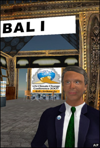 Screen grab of the Bali conference in Second Life (Image: AP)