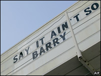Barry Bonds banner