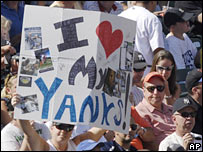 I love Yankees placard