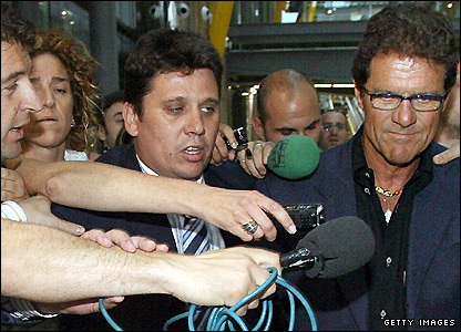 Capello deals with the media