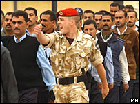 Iraqi trainee policeman