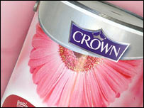 Tin of Crown paint