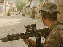 British soldier in Bosnia