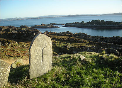 Gravestone, thought to be the final resting place of St Eithne