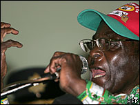 Robert Mugabe at the Zanu-PF congress in Harare, 13 December 2007