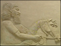 Assyrian frieze at Iraqi National Museum
