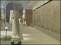 Assyrian hall at Iraqi National Museum in Baghdad