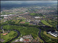 Area to be regenerated by the Clyde Gateway scheme