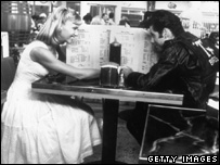 Olivia Newton-John and John Travolta in Grease in 1978