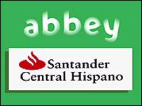 Abbey and Santander Central Hispano logos