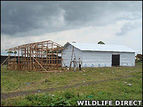 Construction of emergency camp (Image: WildlifeDirect)