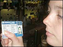 A fake ID ordered over the internet