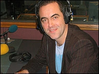 James Nesbitt in Radio Ulster's studio