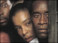 Sophie Okonedo with Don Cheadle in Hotel Rwanda