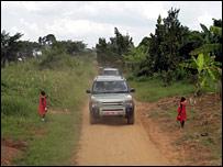 Land Rover in Uganda