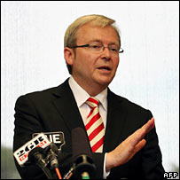 Kevin Rudd. Image: AFP/Getty