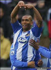 ex-Everton star Marcus Bent against Blackburn