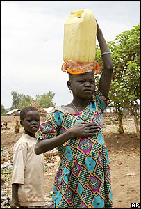 Villagers in southern Sudan