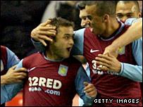 Aston Villa goalscorer Shaun Maloney