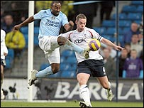 Darius Vassell (left) scored Man City's winner against Bolton in a 3-2 victory