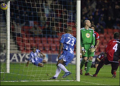 Bent scores Wigan's fourth