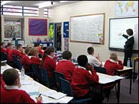 Classroom at The Deans Primary School, Lancashire