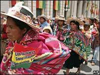 Supporters of President Morales in La Paz