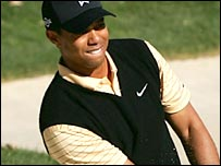Tiger Woods in action in California