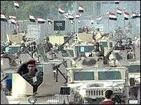 Iraqi troops on parade