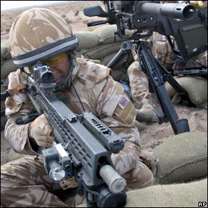 A British solider in Basra