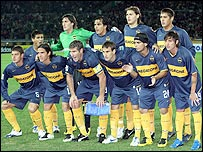 The Boca team which lost to AC Milan in the Fifa Club World Cup