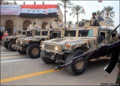Iraqi army jeeps