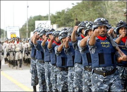 Iraqi policemen