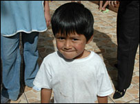A boy at the Asociacion Primavera children's home