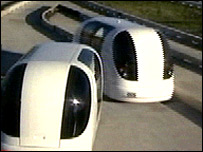 The Personal Rapid Transit vehicles
