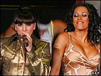 Melanie Chisholm and Melanie Brown