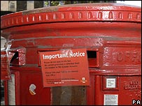 Letter box closed during the recent strike