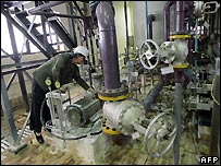 A Russian technician inside the Bushehr plant - file photo 3/4/2007