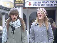 Two girls in Brighton