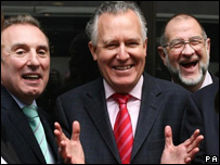 Peter Hain meets former steel workers in London