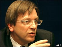 Guy Verhofstadt, Belgian caretaker Prime Minister