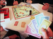 A game of Monopoly in progress