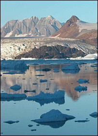 Kangerdlussuaq Glacier, East Greenland. (J A Dowdeswell)