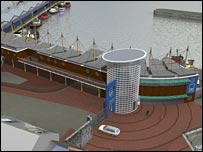 Artist's impression of the Brixham fish market redevelopment