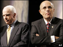 John McCain and Rudy Giuliani